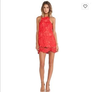 Lovers + Friends Coral lace Dress